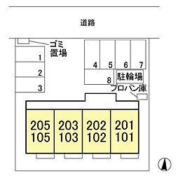 (仮)ウィット北茂呂[105号室]の外観