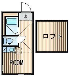 神奈川県横浜市旭区善部町の賃貸アパートの間取り