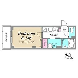 R‐Residence  TSURUMI 5階1Kの間取り