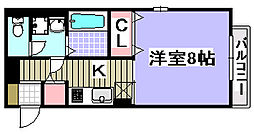 コゥジィーコート2[201号室]の間取り