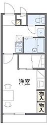 兵庫県三田市西山2丁目の賃貸アパートの間取り