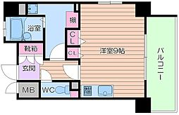 レジェンドール大阪天満 G-レジデンス[12階]の間取り