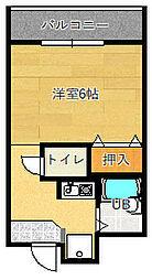 グランヴェール深澤[101号室]の間取り