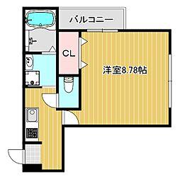 フジパレス姫島 1階1Kの間取り