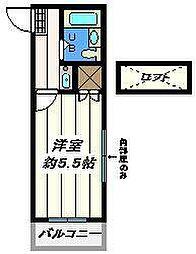 埼玉県草加市瀬崎5丁目の賃貸アパートの間取り
