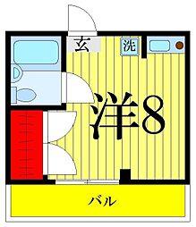 大津屋スカイハイツ[305号室]の間取り