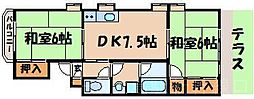 広島県安芸郡府中町本町2丁目の賃貸マンションの間取り