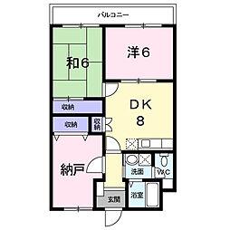 スペース21 2階3DKの間取り