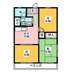 エクセル浅井 A棟[2階]の間取り