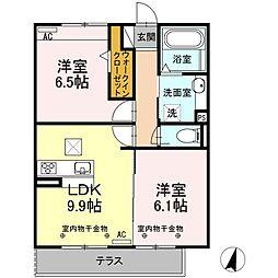 Resente和田町B[1階]の間取り