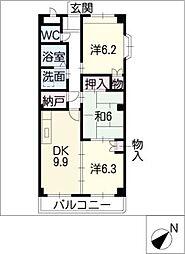 ミレア21[2階]の間取り