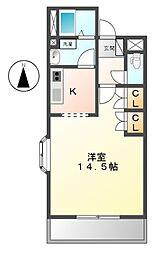 セントラルアパートメント[2階]の間取り