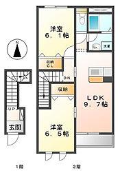 ファミリーハウス禾森[2階]の間取り