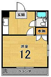 山岡マンション[301号室]の間取り