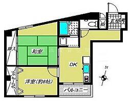 神奈川県横浜市中区松影町4丁目の賃貸マンションの間取り
