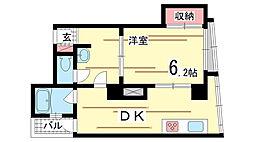 兵庫県神戸市兵庫区下沢通1丁目の賃貸マンションの間取り