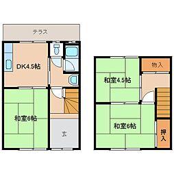 [一戸建] 奈良県奈良市神殿町 の賃貸【奈良県 / 奈良市】の間取り