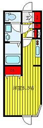 都営三田線 千石駅 徒歩6分の賃貸マンション 3階ワンルームの間取り