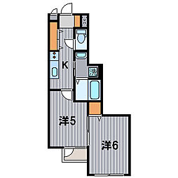神奈川県川崎市中原区井田2丁目の賃貸マンションの間取り