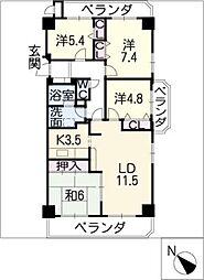 ネオシティ岡崎 1413号室[14階]の間取り