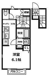 エスペラントI 201号室[2階]の間取り