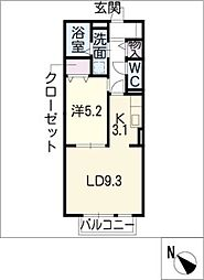 グランドールコート A棟[1階]の間取り