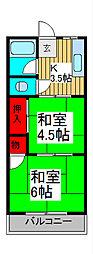 孝福荘[203号室]の間取り