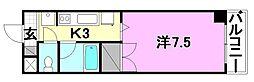 ベルメゾン久万ノ台[407 号室号室]の間取り