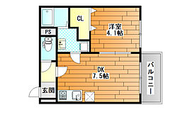 近鉄南大阪線 藤井寺駅 徒歩3分の賃貸マンション 1階1DKの間取り