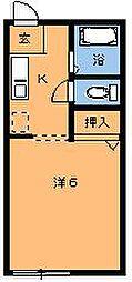 エルカーサ桜木I[102号室]の間取り