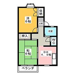 レ・ブラン・カミーリア A棟[2階]の間取り