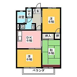 サニーコーポ (北)[1階]の間取り