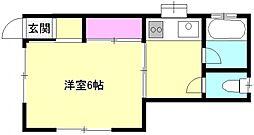 東京都八王子市廿里町の賃貸アパートの間取り
