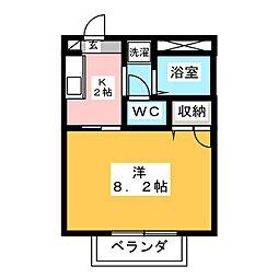 メゾン・カルテット[1階]の間取り