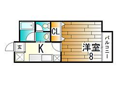 ラフィーネ三田[2階]の間取り