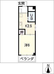 メゾン鈴秀[4階]の間取り
