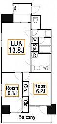 新築 H2138[8階]の間取り