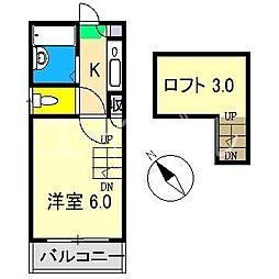 シンフォニィ百石[1階]の間取り