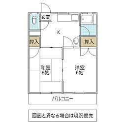 鈴木ハイツ[203号室号室]の間取り