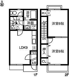 [テラスハウス] 愛知県春日井市大留町4丁目 の賃貸【/】の間取り
