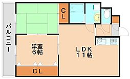 リバティ館[4階]の間取り