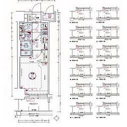 名古屋市営東山線 亀島駅 徒歩3分の賃貸アパート 6階1Kの間取り