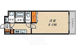 アドバンス大阪城エストレージャ 6階1Kの間取り