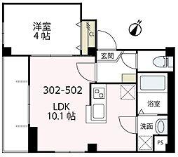 ペルソナ横浜[302号室号室]の間取り