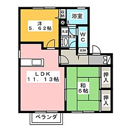 グランデュールココA棟[1階]の間取り