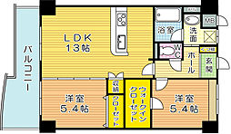 CREWS.ROI Tenraiji(クルーズロワ天籟寺)[7階]の間取り