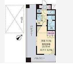 ビイルーム横濱関内[5階]の間取り