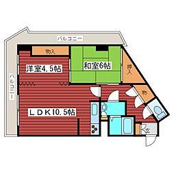 西岡サンマウンテンシャトー[1階]の間取り