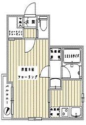 東京メトロ銀座線 三越前駅 徒歩7分の賃貸マンション 6階1Kの間取り