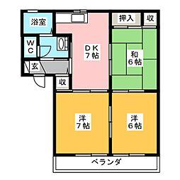 ガーデンプレイスRINO  II[1階]の間取り